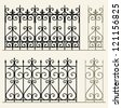 Wrought iron modular railings and fences - stock