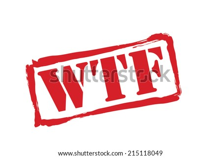 WTF red rubber stamp vector over a white background. - stock vector