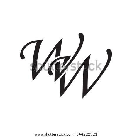 WW Initial Monogram Logo Stock-Vektorgrafik (Lizenzfrei) 344222921 ...