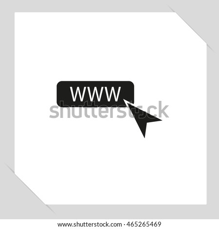 www icon - black vector illustration