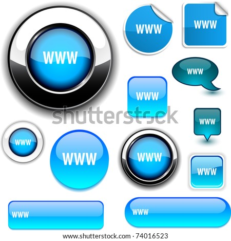 WWW vector high-detailed icons. - stock vector