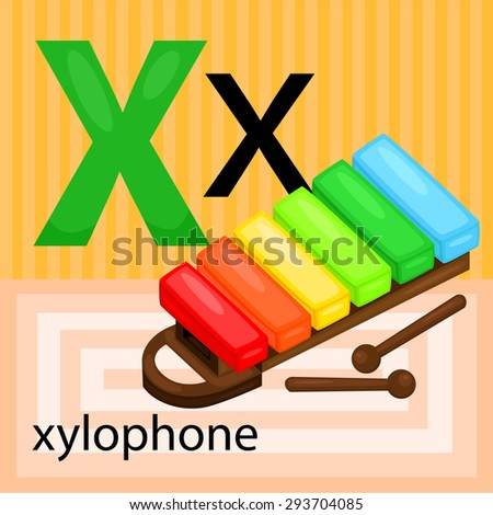 X for xylophone