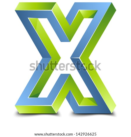 X impossible sign - stock vector