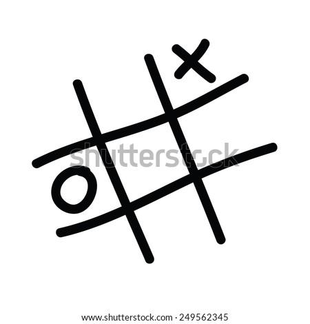 x o icon vector illustration - stock vector