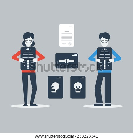 x-ray examination - stock vector