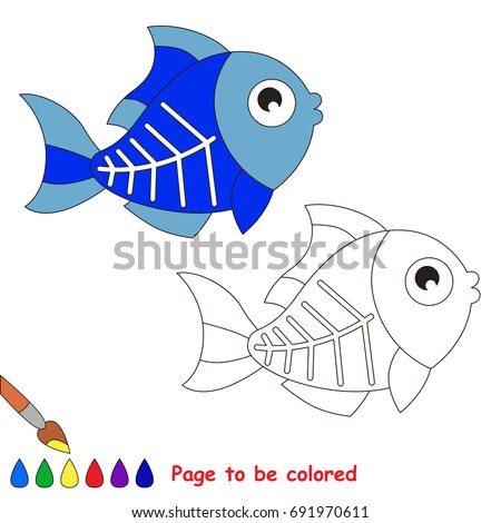 X Ray Fish To Be Colored The Coloring Book For Preschool Kids With Easy