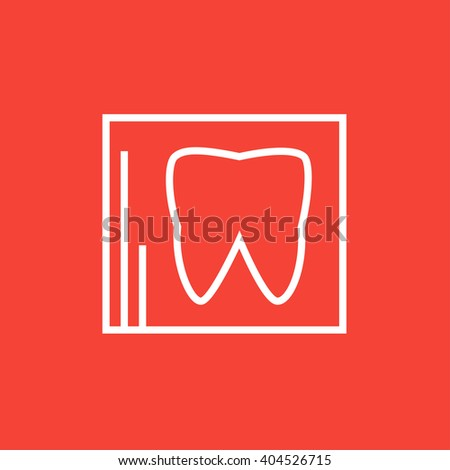 X-ray of tooth line icon. - stock vector