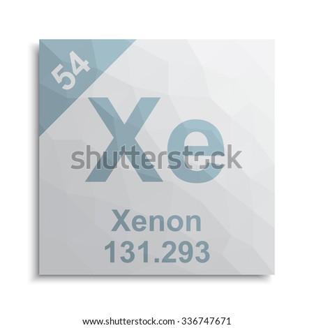 Xenon element periodic table stock vector 336747671 shutterstock xenon element periodic table urtaz Images