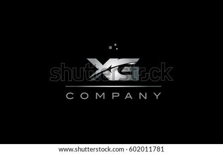 Xg X G Silver Grey Metal Stock Vector 602011781 Shutterstock