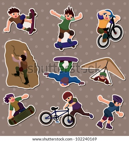 xgame stickers - stock vector