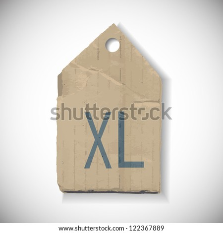 XL Size label isolated on white - stock vector