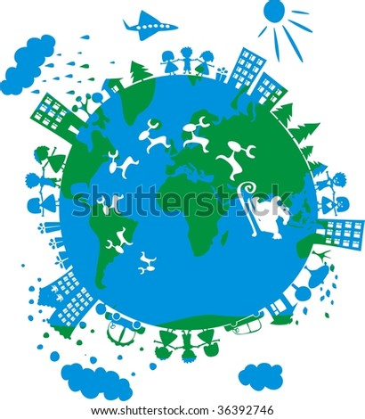xmas all over the wold - stock vector