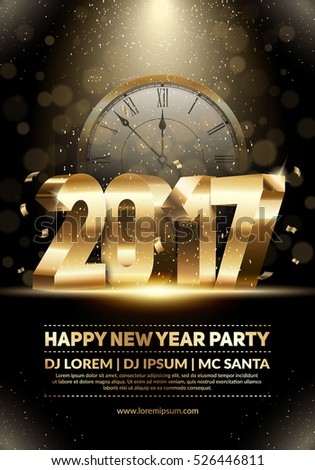 Xmas and New Year party club poster. Modern design for a holiday party flyer. Eps10 vector template.