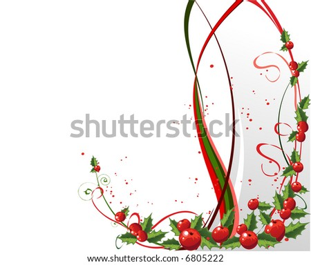 Xmas background - stock vector