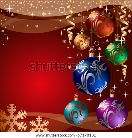 xmas bauble. christmas decoration. vector greeting card - stock vector
