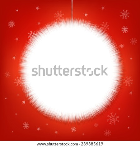 Xmas Snow Ball, Vector Illustration - stock vector