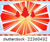 Xmas wallpaper illustration - stock vector