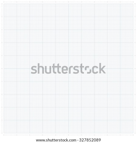XXL millimeter paper, graph paper or plotting paper. - stock vector