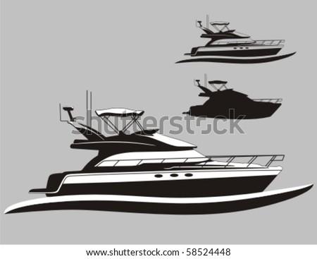 Yacht - stock vector