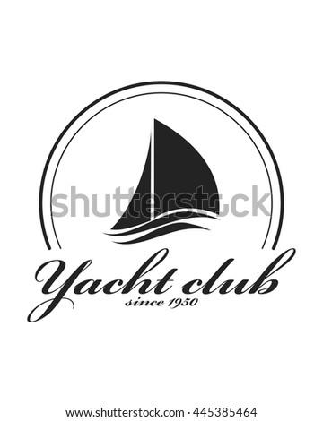 Yacht club emblem vector logo templates stock photo photo vector yacht club emblem vector logo templates yachts silhouettes vector line yachts icon vector toneelgroepblik Images