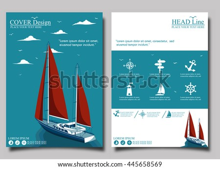 Yacht club stock images royalty free images vectors shutterstock yacht club flyer design template vector toneelgroepblik Image collections