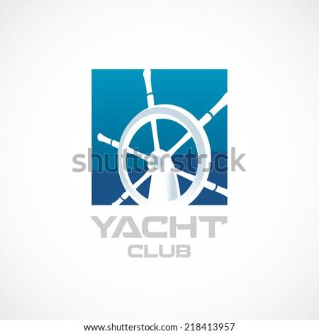 Yacht club logo template helm sign stock vector 218413957 shutterstock yacht club logo template helm sign toneelgroepblik Image collections