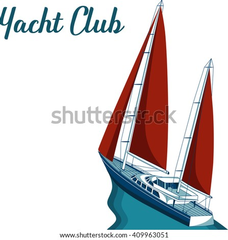 Yacht club sea ocean travel element stock vector 409963051 yacht club sea and ocean travel element sport and holiday template toneelgroepblik Image collections