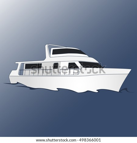 Yacht for leisure and travel