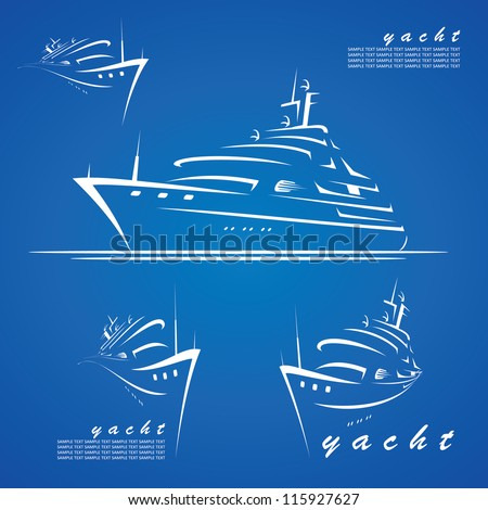 Yacht labels - vector illustrations