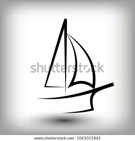 yacht logo templates sail boat silhouettes stock vector 1061015861