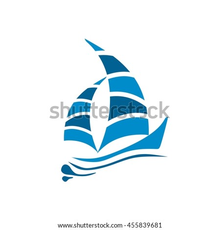 Yacht logo templates. Vector, Sailboat, Nautical, Marine, Symbols