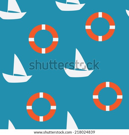 yacht seamless pattern, background for website