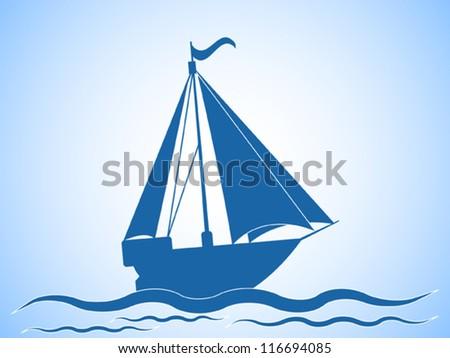 Yacht vector illustration - stock vector