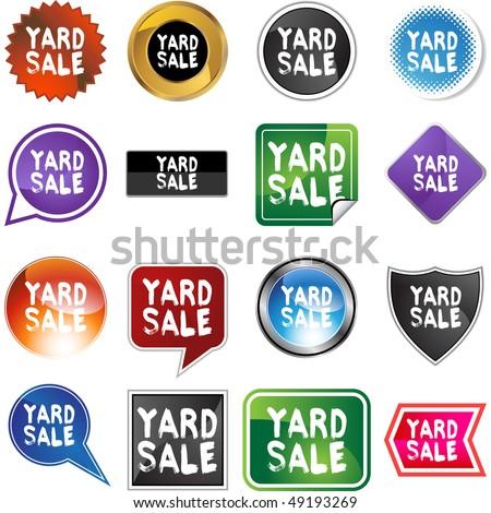 Yard Sale - stock vector