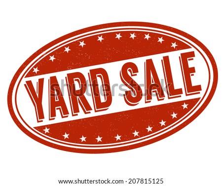 Yard sale grunge rubber stamp on white, vector illustration - stock vector