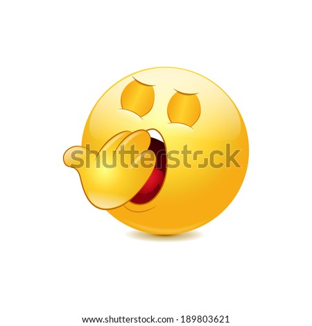Yawn emoticon. Vector - stock vector