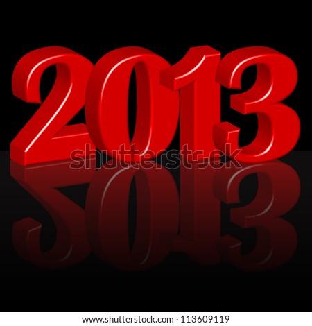 Year 2013 - stock vector