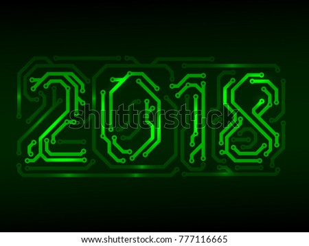 Year 2018 made from PCB numbers