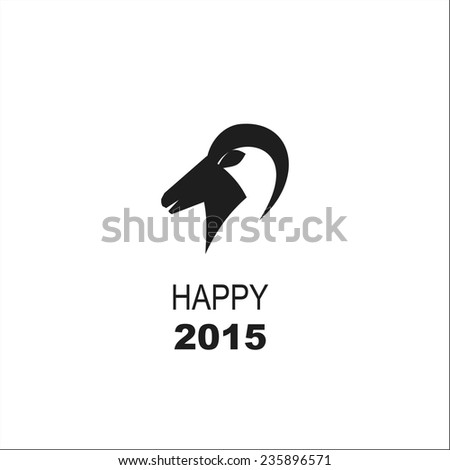 Year of the goat Happy New Year - stock vector