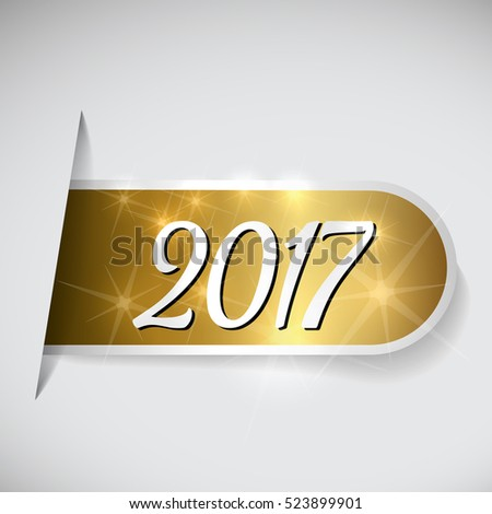 Year 2017 on golden label
