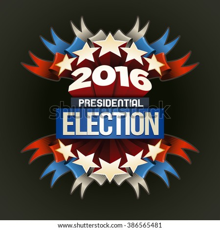 Year 2016 Presidential Election Design. Elements are layered separately in vector file. - stock vector