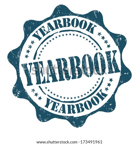 Yearbook grunge rubber stamp on white, vector illustration - stock ...