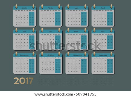 French Calendar Stock Images Royalty Free Images