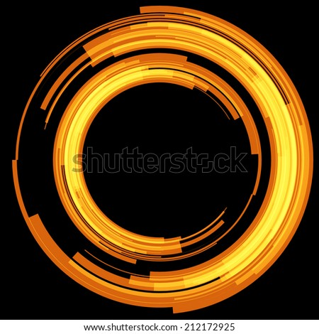 Yellow abstract circle. Vector. - stock vector