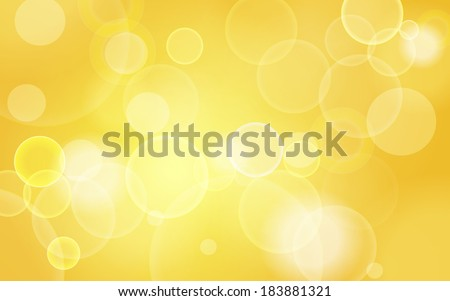 yellow abstract festive bokeh lights background - stock vector