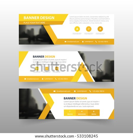 Orange Triangle Abstract Corporate Business Banner Stock Vector ...