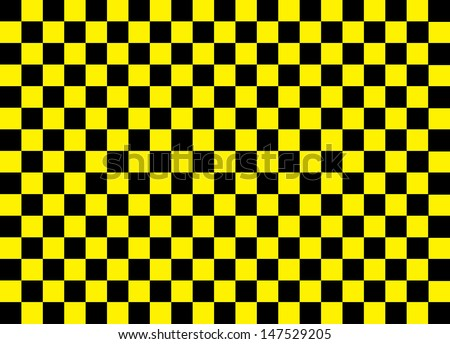 Yellow and Black Squares. Vector