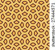yellow and brown psychedelic circle seamless pattern - stock photo