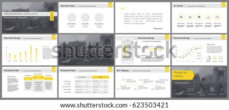 Yellow and gray elements for infographics on a white background. Presentation templates. Use in presentation, flyer and leaflet, corporate report, marketing, advertising, annual report, banner.