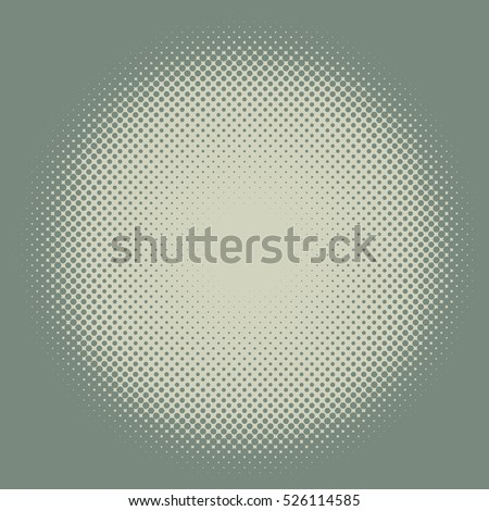 Yellow and green vintage colored halftone round frame vector background with copy space.